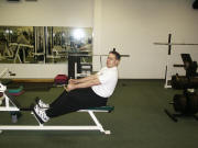 back strength training : seated row