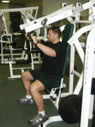 chest strength training; hammer incline press