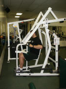 back strength training : hammer high row