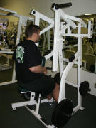 back strength training : hammer low row