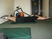 back strength training : supermen