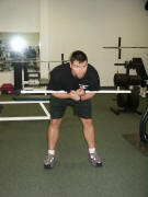 back strength training : spider good mornings